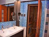 Koupelna se saunou - rekreační dům k pronajmutí Klobouky u Brna