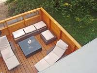 """Venkovní ratanové posezení """"Bali"""" na spodní terase"""