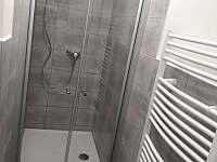 Apartmán ve dvoře - prostorný sprchový kout - Zaječí