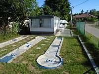 celkový pohled na mobilní dům - chata ubytování Roštín