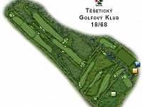 mapa golfového hřiště Těšetice -