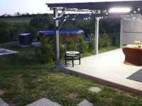 Pergola, bazén - rekreační dům ubytování Těšetice u Znojma