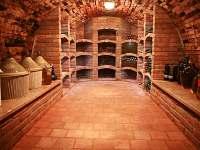 Prostor sklepa s vínem