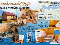 Brod nad Dyjí jarní prázdniny 2019 pronájem