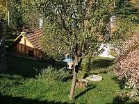 Pohled ze zahrady - chalupa k pronajmutí Skřípov