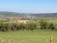Pohled od Nezdenic na zámek v Bojkovicích - chalupa k pronájmu Rudice