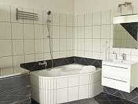 koupelna - apartmán k pronajmutí Podomí