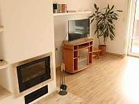 obývací pokoj s krbem - Podomí