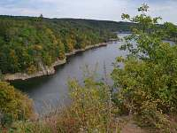 Dalešická přehrada (cca 44 km)