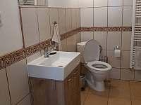 Koupelna s WC - pronájem chalupy Vlčnov