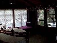 Prosklená veranda - chata ubytování Ochoz u Brna