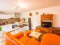 Malovaný dvoreček - obývací pokoj s kuchyňským koutem - apartmán k pronajmutí Dolní Dunajovice