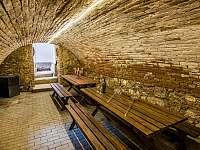Sklep pro posezení u sklenky vína. Sklep se nachází přímo pod apartmány. - Dolní Dunajovice