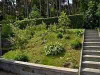 schody + zahrádka - chata k pronájmu Lančov