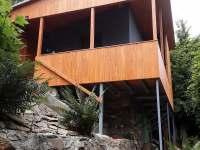 Pohled zespodu - chata ubytování Bítov