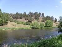 řeka Jihlava 5B- pstruhový revír(před chalupou)