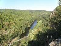 údolí řeky pohled z Templštýna