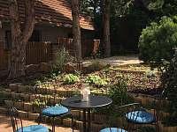 Zahradní posezení - pronájem apartmánu Bořetice