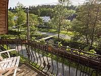 Výhled z balkónu v prvním patře - Rajnochovice