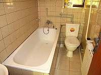 Koupelna s vanou a toaletou - chalupa k pronájmu Šerkovice