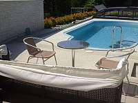 bazén v soukromí - chata k pronájmu Provodov