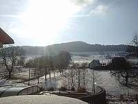 pohled z terasy - chata ubytování Provodov