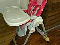 Ubytování Zlín - Ořechový, Javorový apartmán - jídelní židlička