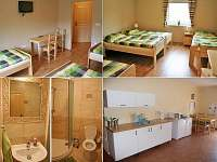 3-4 lůžkové pokoje se společnou kuchyňkou
