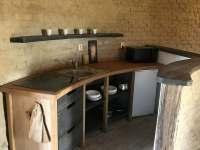 Kuchyň - chalupa ubytování Kunkovice