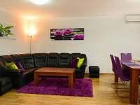 obývací prostory přízemí s klimatizací - chalupa ubytování Slušovice