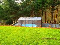 nové zastřešení bazénu Alukov - chata k pronajmutí Všemina
