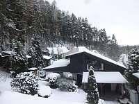 Zimní pohled - chalupa ubytování Kuničky