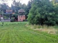 Pohled na chatu od řeky Dyje - k pronájmu Podhradí nad Dyjí