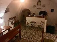Interiér našeho sklepa. - ubytování Dolní Věstonice
