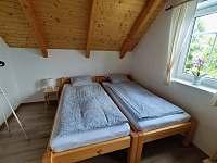 Chalupa Jana, ložnice č.1, možnost upravit spaní pro 4 osoby - Suchý
