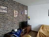 Obývací pokoj - pronájem chaty Lančov