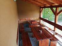Venkovní terasa - chata k pronajmutí Lančov