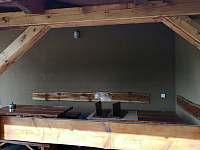 Venkovní terasa - chata ubytování Lančov