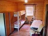 ložnice - chata ubytování Luleč