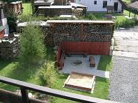 Chata Suchý - pohled na ohniště