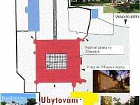 Plánek ubytování Palánku