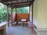 Venkovní posezení 2 - chata ubytování Tvarožná Lhota - Lučina