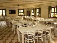 Společenská místnost, jídelna - ubytování Osvětimany