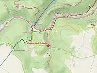 Výřez turistické mapy okolí - Senorady