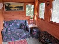 Vnitřní terasa v chatě - pronájem Jedovnice
