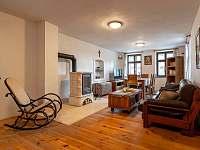 Obývací pokoj - chalupa ubytování Horní Štěpánov