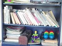 knihovna s hračkami - chalupa k pronajmutí Nové Mlýny