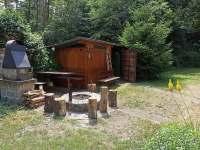 Ohniště - chata k pronájmu Kněždub