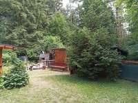 Pohled grilování - pronájem chaty Kněždub
