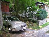 parkování - chata k pronajmutí Oslnovice